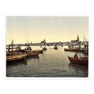 General view, Rostock, Mecklenburg-Schwern, German Postcard