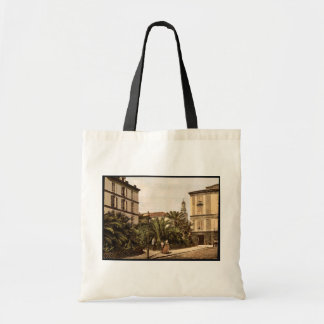 General view, San Remo, Riviera vintage Photochrom Canvas Bags