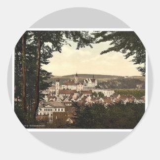 General view, Sigmarungen (i.e. Sigmaringen), Hohe Classic Round Sticker