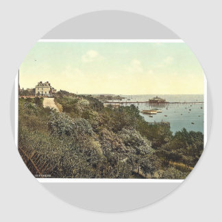 General view, Southend-on-Sea, England classic Pho Round Sticker