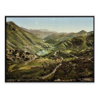 General view, Thal von Rieka, Montenegro vintage P Post Cards