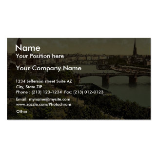 General view, the river and warehouses, Frankfort Business Card Templates