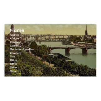 General view, the river and warehouses, Frankfort Business Cards