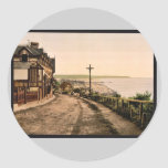 General view, Trouville, France vintage Photochrom Sticker