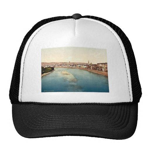 General view, Verona, Italy vintage Photochrom Trucker Hats