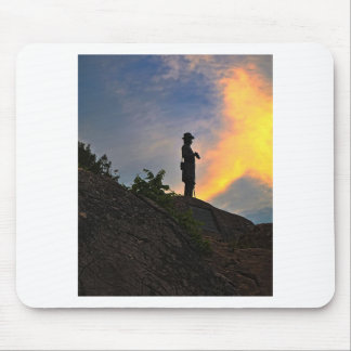 General Warren watching over Little Round Top Mouse Pad