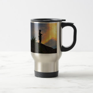 General Warren watching over Little Round Top Travel Mug