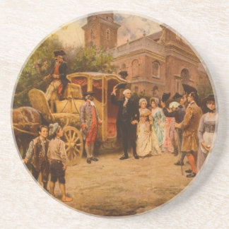 General Washington at Christ Church Easter Sunday Beverage Coasters