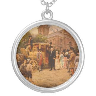 General Washington at Christ Church Easter Sunday Round Pendant Necklace
