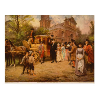 General Washington at Christ Church Easter Sunday Postcard