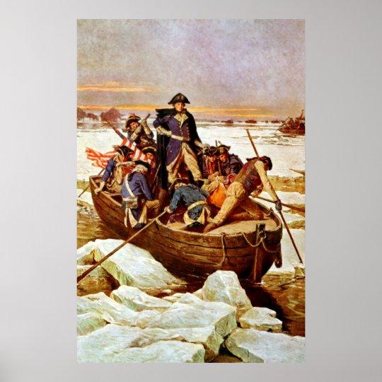 General Washington Crossing The Delaware River Poster