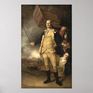 General Washington en la batalla de Princeton Póster