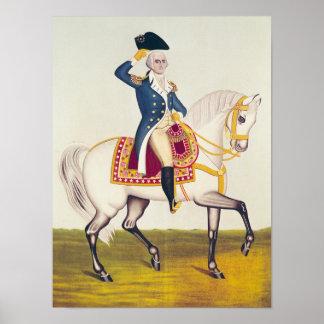 General Washington en un cargador blanco, c.1835 Posters
