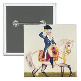 General Washington en un cargador blanco, c.1835 Pin Cuadrada 5 Cm