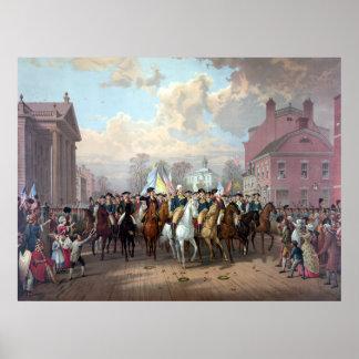 General Washington entra en Nueva York Posters