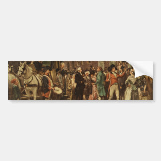 General Washington Inspecting the Captured Colors Bumper Sticker
