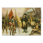 General Washington Inspecting the Captured Colors Greeting Card