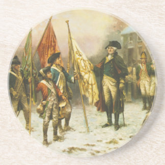 General Washington Inspecting the Captured Colors Beverage Coasters