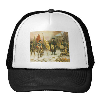 General Washington Inspecting the Captured Colors Trucker Hat