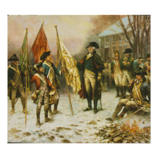 General Washington Inspecting the Captured Colors Poster