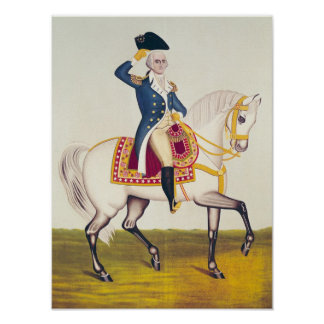 General Washington on a White Charger, c.1835 Print