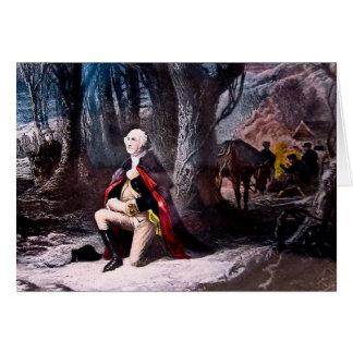 General Washington Praying at Valley Forge, PA Card