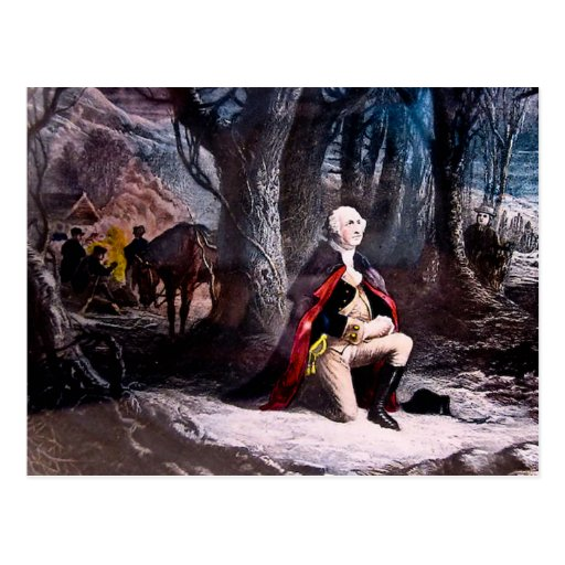 General Washington Praying at Valley Forge, PA Postcards