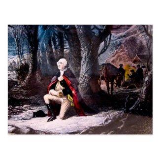 General Washington Praying at Valley Forge, PA Postcard