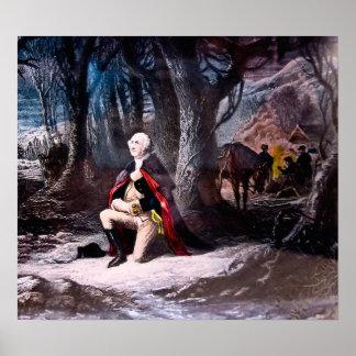 General Washington Prays at Valley Forge PA Poster