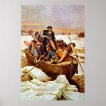 General Washington que cruza el río Delaware Impresiones