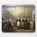 General Washington que dimite a su Comisión Alfombrilla De Ratones