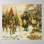 General Washington que examina los colores captura Posters