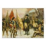 General Washington que examina los colores captura Tarjetas