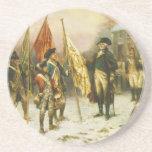 General Washington que examina los colores Posavaso Para Bebida
