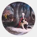 General Washington que ruega en la fragua del Pegatinas Redondas