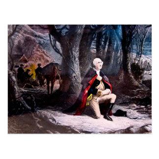 General Washington que ruega en la fragua del vall Tarjetas Postales