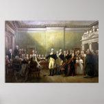 General Washington Resigning His Commission Poster