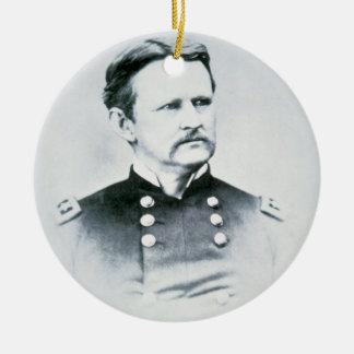 General Wesley Merritt (1834-1910) (foto de b/w) Adorno Navideño Redondo De Cerámica