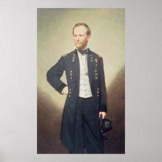 General William Sherman  1866 Poster