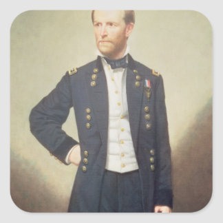 General William Sherman  1866 Square Sticker