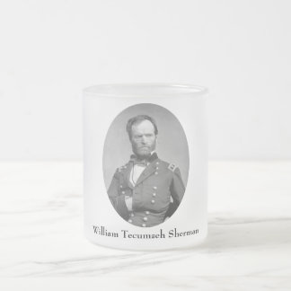 General William Sherman Frosted Glass Coffee Mug