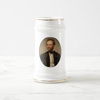 General William Sherman Painting 18 Oz Beer Stein