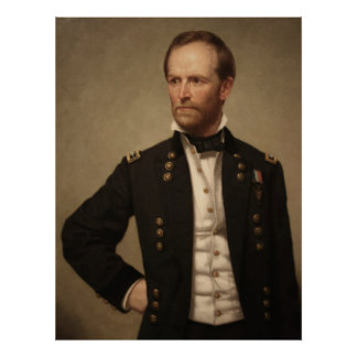 General William Sherman Painting Poster