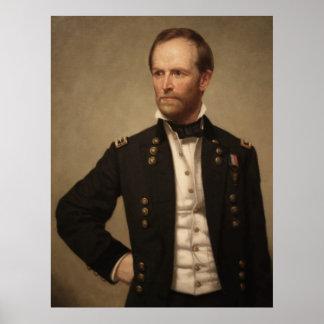 General William Sherman Painting Poster