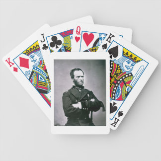 General William T. Sherman (1820-91) (b/w photo) Bicycle Playing Cards