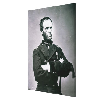 General William T. Sherman (1820-91) (b/w photo) Canvas Print