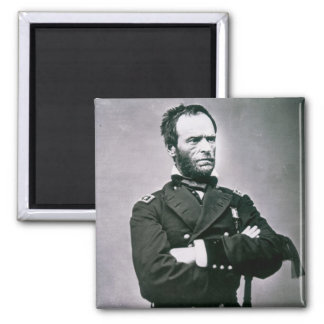 General William T. Sherman (1820-91) (b/w photo) Magnet