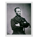 General William T. Sherman (1820-91) (b/w photo) Poster
