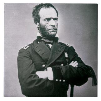 General William T. Sherman (1820-91) (b/w photo) Tile