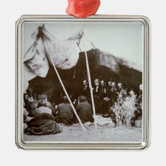 General William T. Sherman (1820-91) presides at t Metal Ornament